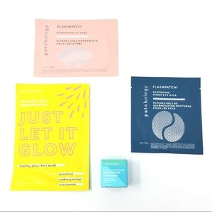 Patchology mask, eye & lip gel, moisturizer bundle